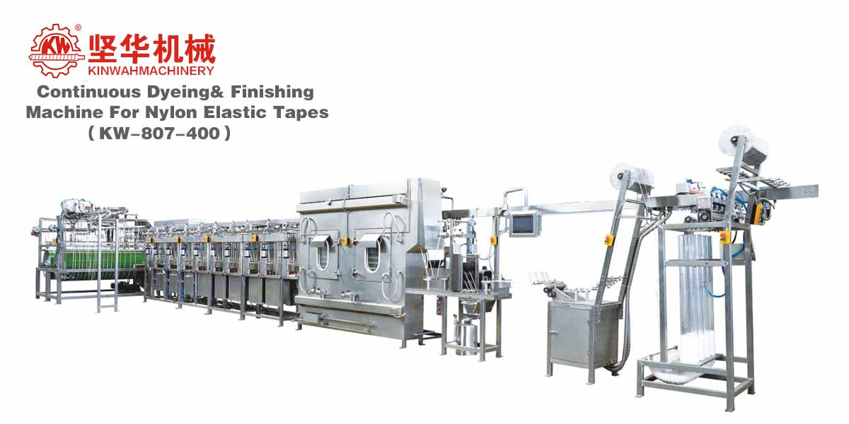 Continuous Dyeing&Finishing Machine for Nylon Elastic Tapes KW-807-400