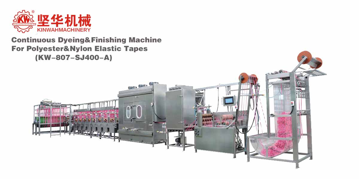 Continuous Dyeing&Finishing Machine for Polyester&Nylon Elastic Tapes KW-807-SJ400-A