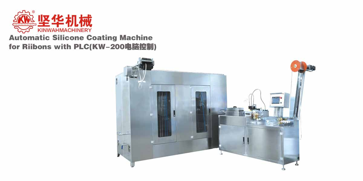 Automatic Silicone Coating Machine for Ribbons with PLC KW-200
