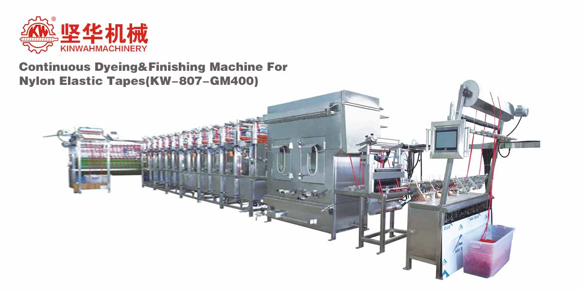 Continuous Dyeing&Finishing Machine for Nylon Elastic Tapes KW-807-GM400