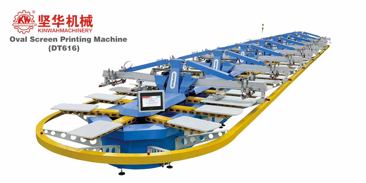 Fully Automatic Tshirt Oval Screen Printing Machine