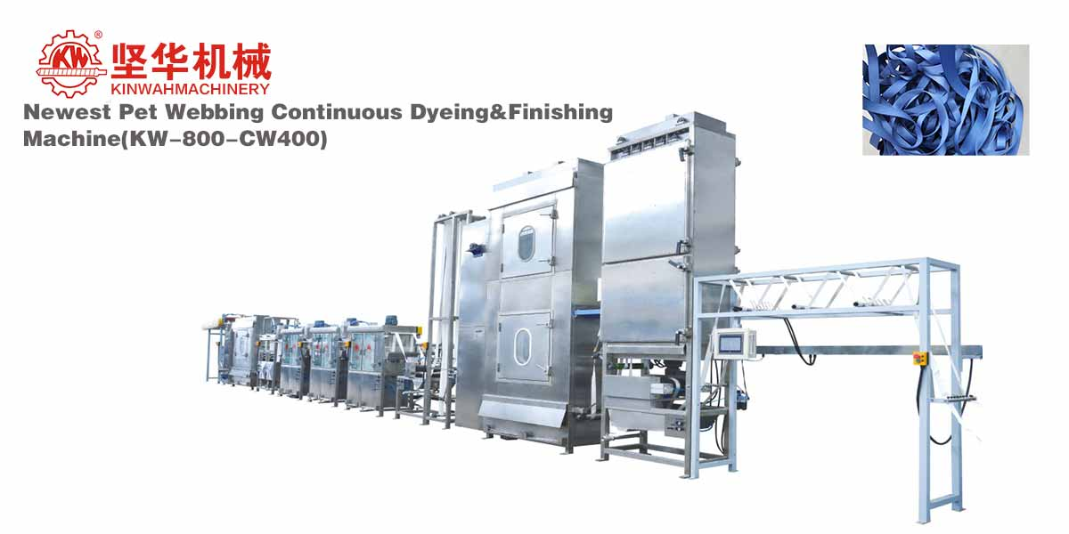 Newest Pet Webbing Continuous Dyeing&Finishing Machine KW-800-CW400